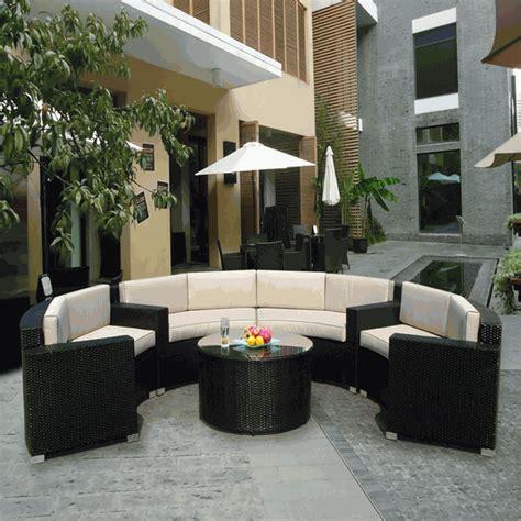 beautiful outdoor patio wicker furniture seating 6pc
