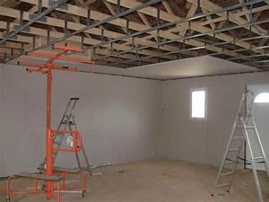 Pose De Placo Sur Rail : pose plafond gaines electriques le blog de sweethome30 ~ Carolinahurricanesstore.com Idées de Décoration