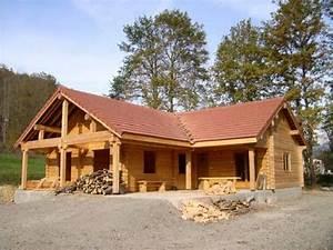 fuste mitula immobilier With maison en fuste prix 1 maison en bois plein pied de 134 m2 madrier fuste toulouse