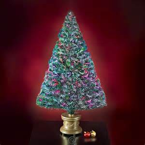 the 4 fiber optic twinkling artificial christmas tree multi colored lights ebay