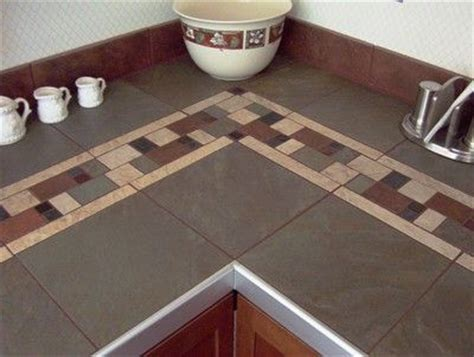 smaller tiles with the large tiles tile countertops