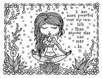 Positive Coloring Pages Affirmation Inspirational Thought Printable
