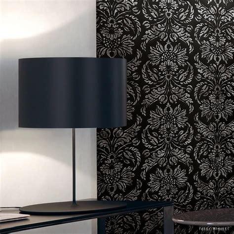 tapete schwarz grau wandpaneel vintage barock wallface 14800 imperial damask selbstklebende tapete deko wandbelag