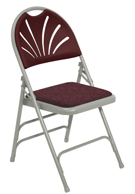 padded folding chairs chair pads blue padded folding