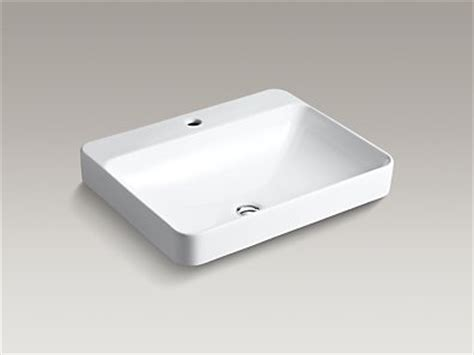 kohler vox vessel sink kohler k 2660 1 vox rectangle vessel sink with single