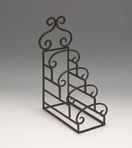 plate stands wrought iron  tiered set   plate easels  stands
