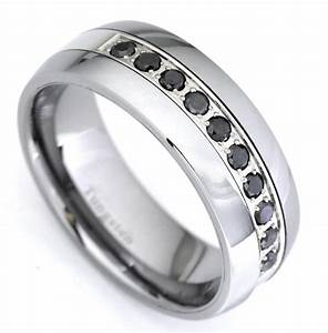 black diamond tungsten carbide wedding band ring 035 With tungsten wedding rings with diamonds