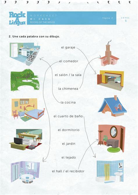 rooms   house worksheet rockalingua
