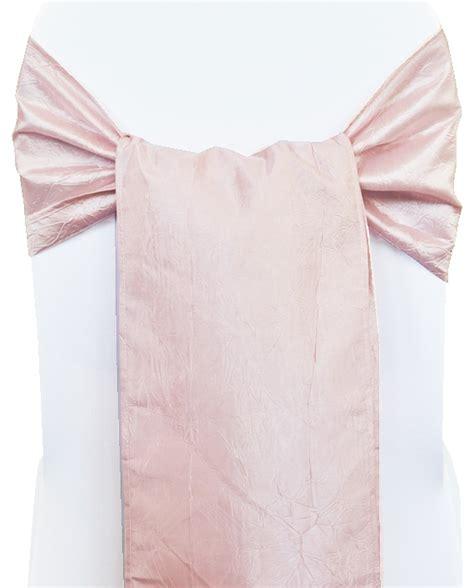 blush pink crushed crinkle taffeta chair sashes