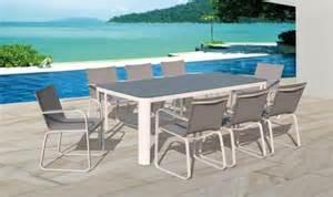 Table De Jardin Carrée 8 Personnes Aluminium by Table Et Fauteuil De Jardin Design Haut De Gamme 8