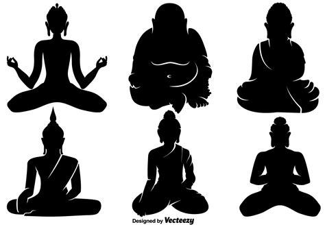buddha vector icons   vector art stock