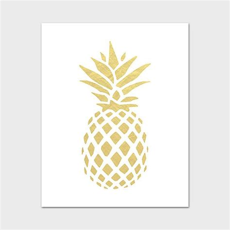 pineapple printable pineapple wall art gold pineapple