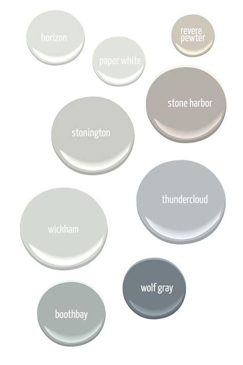 gray paint colors from benjamin horizon paper
