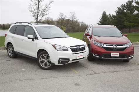 Crv Vs Subaru Forester by 2017 Honda Cr V Vs 2017 Subaru Forester Autoguide