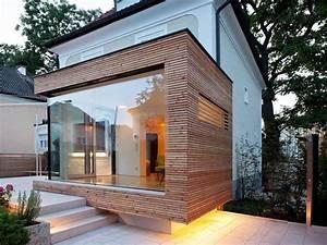 agrandissement maison en cube a bardage en bois sur With agrandissement maison sur pilotis