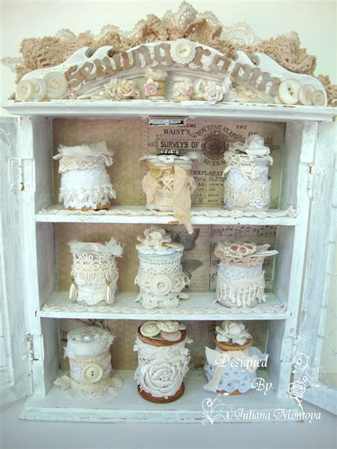 Shabbychicjcouture  Sewing Room Cabinet  Vintage Shabby Chic