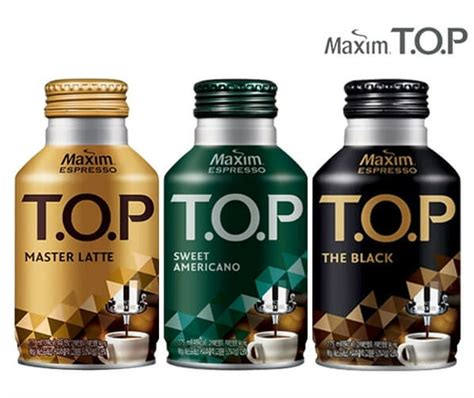 Pour 100 ml of hot(boiled) water into the cup. MAXIM T.O.P KOREAN COFFEE 275ml - K-OUTLET