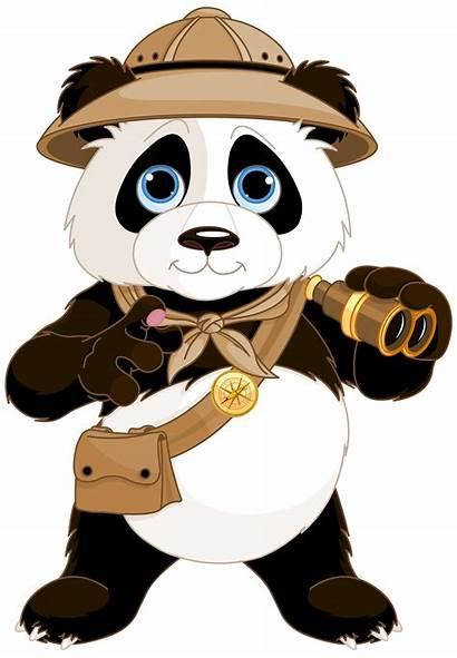 Panda Clipart Clip Bear Cartoons Cartoon River