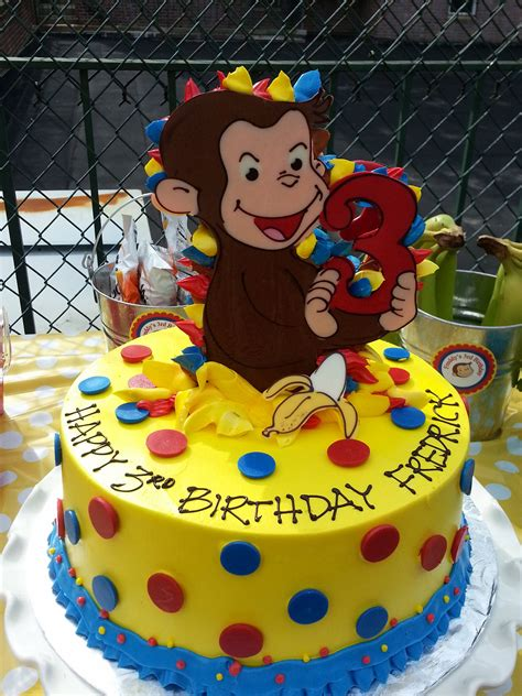 curious george birthday cake  riviera bakehouse