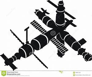 Space Station Mir Stock Vector  Illustration Of