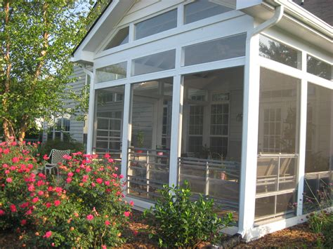 screen porches with a window enclosure system prevents