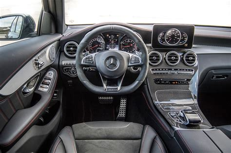 mercedes amg glc coupe dashboard motortrend