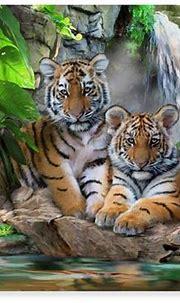 Trademark Global Howard Robinson 'Tigers And Waterfalls ...