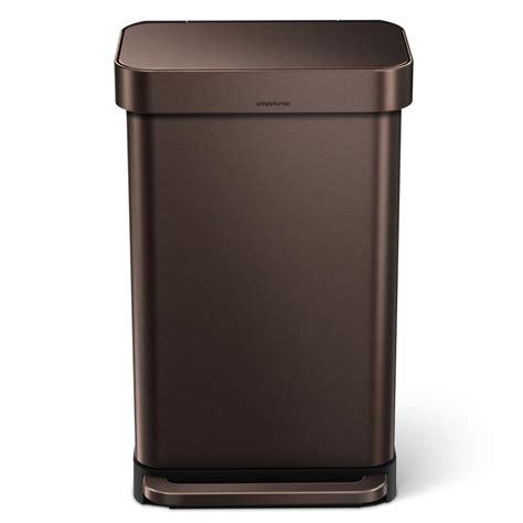 copper trash   lid home ideas