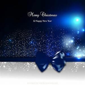 Blue, Black, Christmas, Greeting, Card, Background