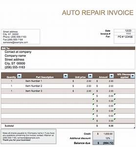 vehicle sales invoice template free invoice templates With auto service invoice template