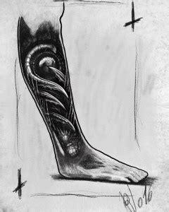 Bioorganic sketch project leg - Tatuaggi biomeccanici