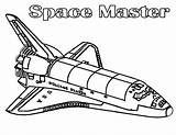 Coloring Shuttle Space Popular sketch template