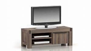Meuble Tv Bois Massif Moderne : meuble tv design en bois massif 1 porte cirilla mobilier moss ~ Teatrodelosmanantiales.com Idées de Décoration