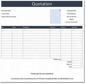 General quotation template free estimate and quote templates for It quotation template