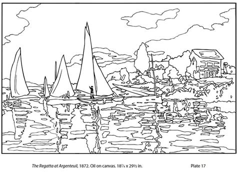 Monet Coloring Pages For Kids Printable  My Friend Posted