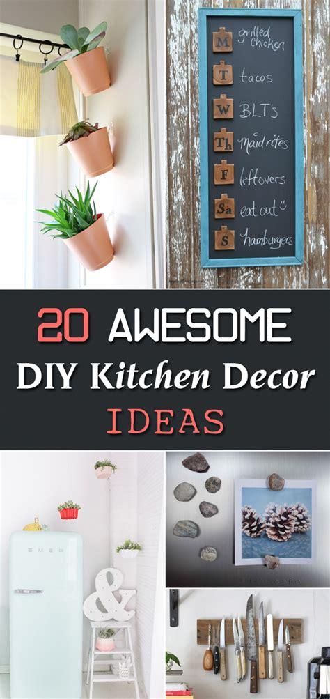 diy kitchen decorating ideas 20 awesome diy kitchen decor ideas