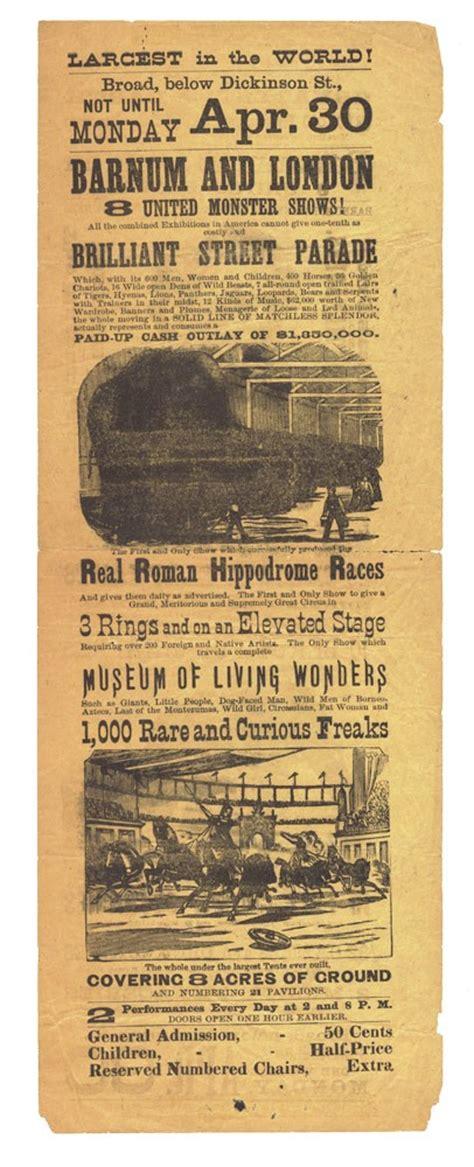 original playbill   pt barnums circus spectacle