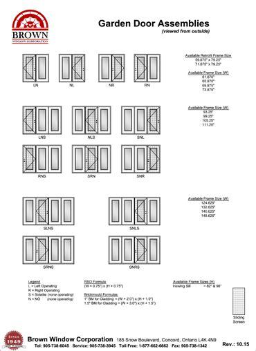 garden window sizes garden door window size chart from brown window corporation