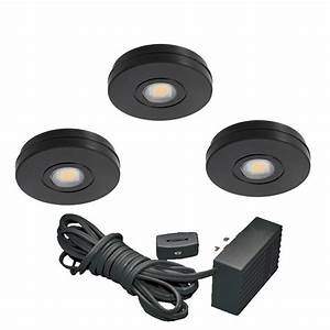 Juno black led under cabinet solo task light kit uk3stl for Task lighting under cabinet