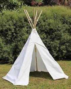 Teepee Zelt Kinder : kinder tipi wigwam kinderzelt indianer zelt mit holz stangen 110 069 ebay ~ Whattoseeinmadrid.com Haus und Dekorationen
