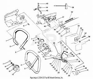 Poulan 3700 Gas Saw Parts Diagram For Handlebar Assembly