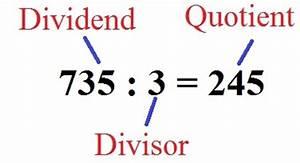 Quotient Berechnen : schriftlich dividieren schriftliche division ~ Themetempest.com Abrechnung