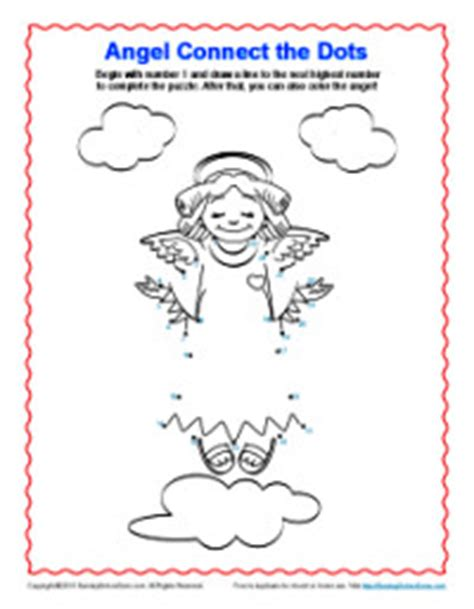 angel connect  dots coloring pages  kids