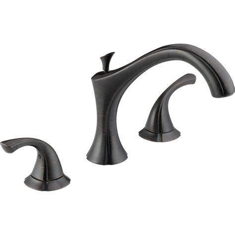 delta bathtub faucet delta 2 handle deck mount tub faucet trim