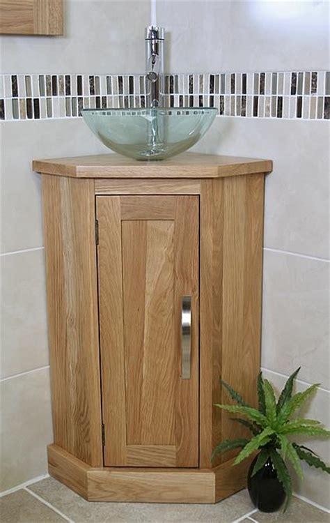 Oak Corner Bathroom Cabinet by Solid Oak Bathroom Cabinet Cloakroom Corner Vanity Sink