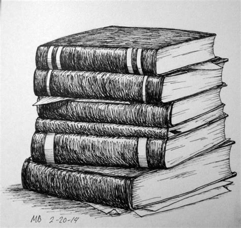 stack  books pencil drawing google search  life