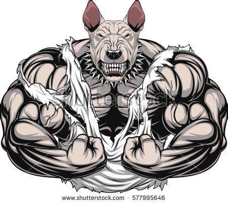 vector illustration strong rhino big biceps stock vector