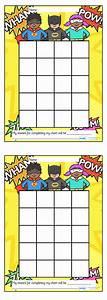 Superhero Sticker Stamp Reward Chart Superhero Stickers