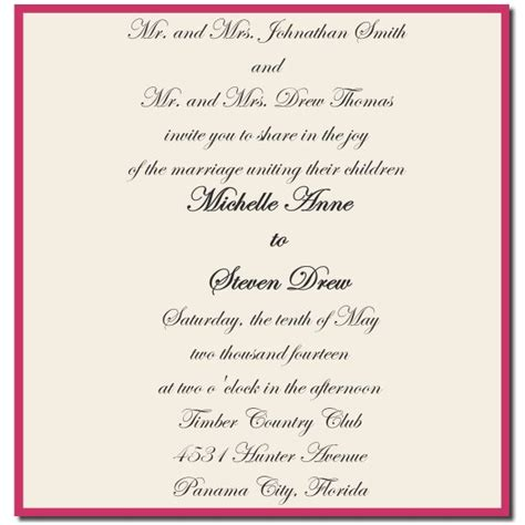 write wedding invitations  parents  divorced