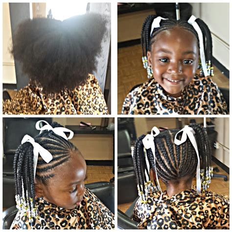 Kids styles braids with beads Yelp